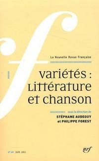 La Nouvelle Revue Française, N° 601, juin 2012 : Variétés : Littérature et chanson