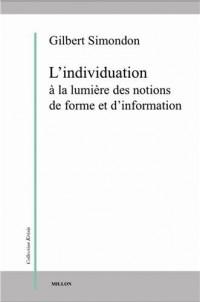 L'individuation à la lumière des notions de forme et d'information