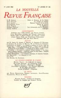 La N.R.F., numéro 126, juin 1963