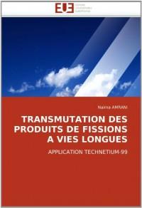 TRANSMUTATION DES PRODUITS DE FISSIONS A VIES LONGUES: APPLICATION TECHNETIUM-99