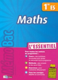 Maths 1e ES : L'essentiel