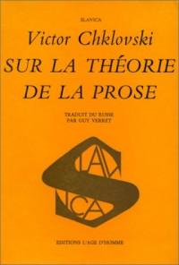Sur la théorie de la prose
