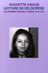 Lecture en Velocipede Poesie 1970 1971