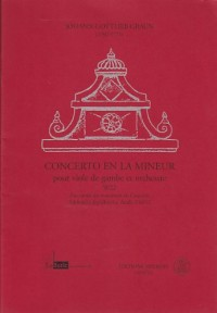 Partitions classique Minkoff GRAUN J.G - CONCERTO EN LA MINEUR Viole de gambe