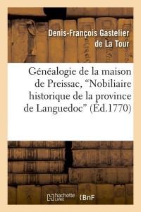 Généalogie de la Maison de Preissac  ed 1770