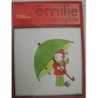 Emilie sous un parapluie