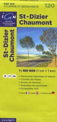 St-Dizier Chaumont : 1/100000