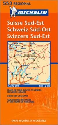 Carte routière : Suisse Sud-Est, N° 11553