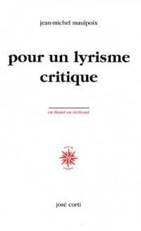 Pour un lyrisme critique