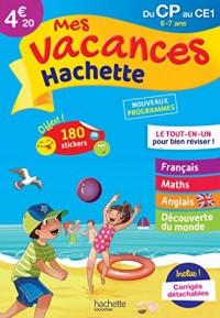 Mes vacances Hachette CP/CE1 - Cahier de vacances