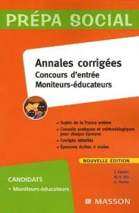 Concours d'entrée Moniteurs-éducateurs : Annales corrigées