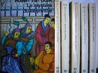 robert van gulik - lot 6 livres : le mystere du labyrinthe - trafic d'or sous les t'ang - le pavillon rouge - meurtre sur un bateau de fleurs - le paravent de laque - le motif du saule