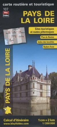 Pays de la Loire, carte régionale, routière et touristique