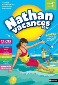 Nathan Vacances 2017 - 4/3ème - Cahier de vacances