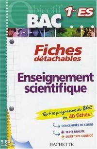 Enseignement scientifique 1e ES
