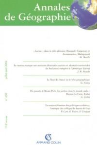 Annales de Géographie, N° 650- 4/2006 : Les territoires de la biodiversité