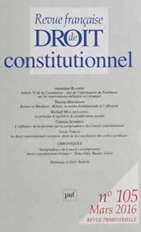 Revue Française de Droit Constitutionnel 2016 N 105