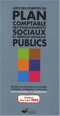 Liste des comptes du plan comptable des établissements sociaux et médico-sociaux publics : De l'instruction comptable M22