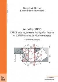 Annales 2006, CAPES externe, interne, Agrégation interne et CAPLP externe de mathématiques
