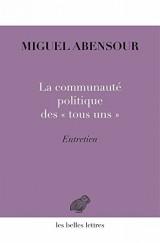 La Communauté politique des « tous uns »: Entretien avec Michel Enaudeau