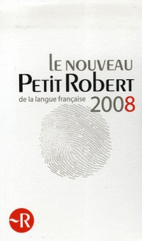 Le Petit Robert 2008 Coffret en 2 volumes