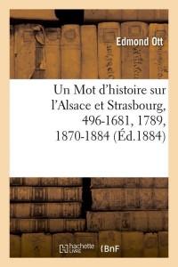 Un mot d histoire sur l alsace  ed 1884