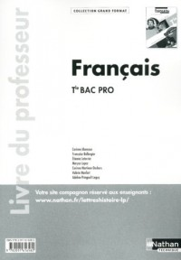 Français Term Bac Pro (Grand Format) Professeur 2011