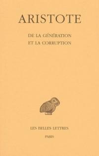 Aristote. De la génération et de la corruption