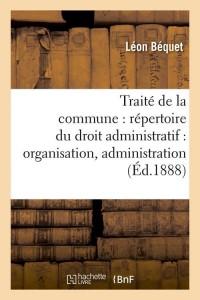 Traite de la Commune  ed 1888