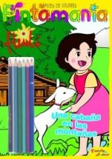 Heidi. Pintamanía lápices de colores: Una cabaña en las montañas