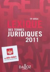 Lexique des termes juridiques 2011
