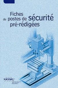 Fiches de postes de sécurité pré-rédigées