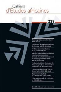 Cahiers d Études Africaines 229