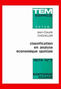 Classification en analyse économique spatiale