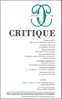 Critique, numéro 684