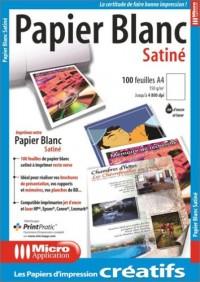 Papier Blanc Satiné