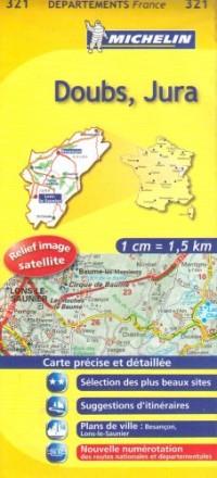 Doubs, Jura : 1/150 000