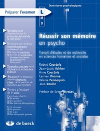 Réussir son mémoire en psycho : Elaboration et rédaction du travail d'étude et de recherche