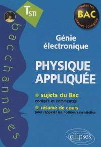 Physique appliquée Tle STI génie électronique