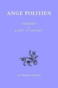 Stances et fable d'Orphée : Edition bilingue français-italien