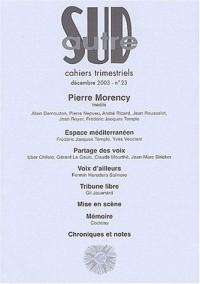 Autre Sud, numéro 23 décembre 2003 : Pierre Morency