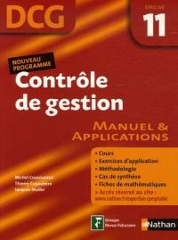 Contrôle de gestion Epreuve 11 - DCG - Manuel et applications