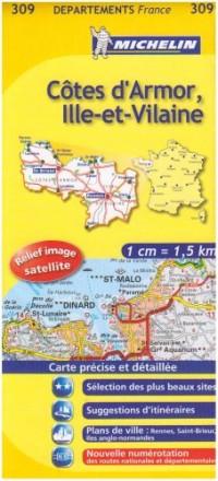 Côtes d'Armor, Ille-et-Vilaine : 1/150 000