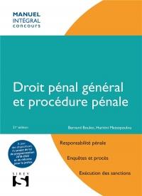 Droit pénal général et procédure pénale - 21e éd.