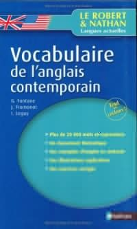 Vocabulaire de l'anglais contemporain