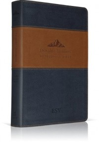 Oswald Chambers Devotional Bible: English Standard Version, Trutone, Navy/Tan