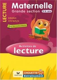Activités de lecture GS 5/6 ans