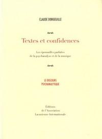 Textes et confidences : Les épousailles parfaites de la psychanalyse et de la musique
