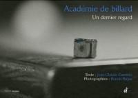 Académie de billard : Un dernier regard