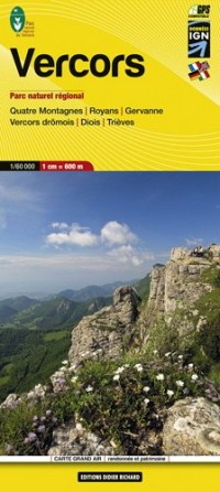 Vercors, Quatre Montagnes, Royans, Gervanne, Vercors drômois, Diois, Trièves : 1/60 000